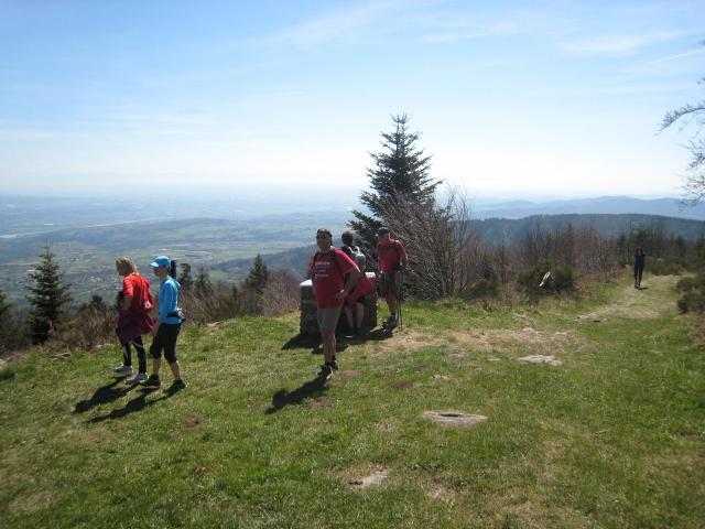 Point de vue magnifique sur la vallée du Rhône