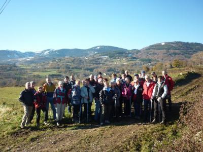 Le groupe devant le Pilat