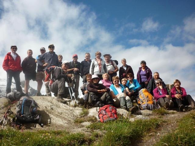 Le groupe au sommet de l'AIguillon