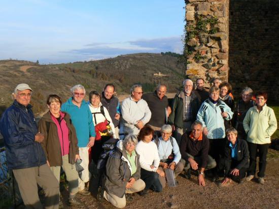 Le groupe à la tour de St Maurice